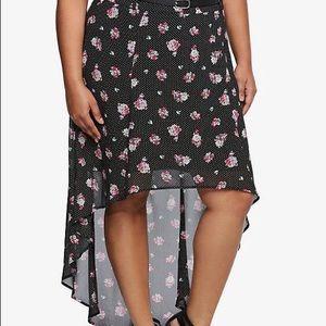 Hi-lo floral skirt